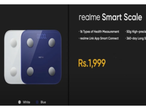 Realme Smart Scale with real-time heart rate monitoring, 16 types of health measurements, launched in India