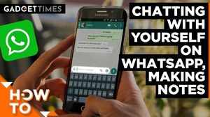 How to chat with yourself on WhatsApp and make notes