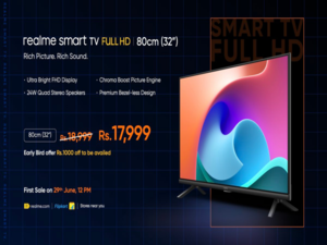 Realme 32-inch Smart TV Full HD launched in India for Rs 18,999
